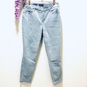 NYDJ•Lift X Tuck•Skinny high waist raw hem jean